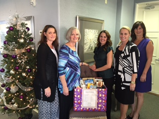 This year my firm did a food drive for The Samaritan Center in Vero Beach, Florida.
