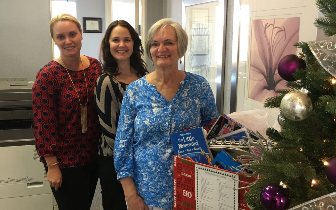 2016 firm holiday donations to support the local community outreach living shelter for Safe Space.